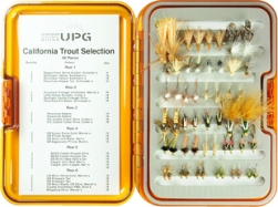 California Guide Trout Selection-UPG Fly Box- 56 Flies